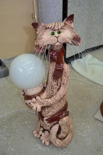 Кот-светильник и копилка