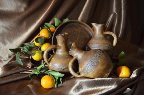 керамика и мандарины