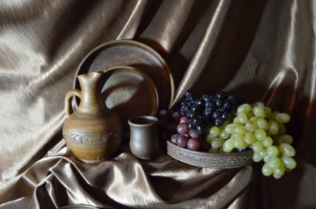 керамика и фрукты