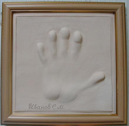 отпечаток руки на глиняной табличке