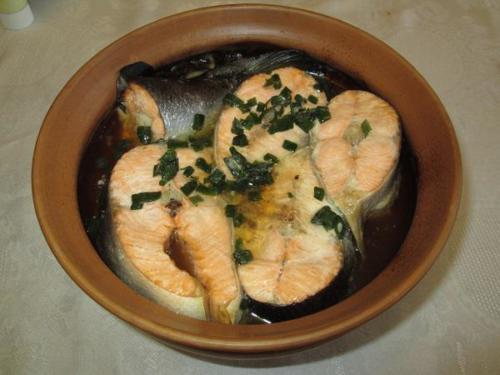 6. Печеная рыба готова