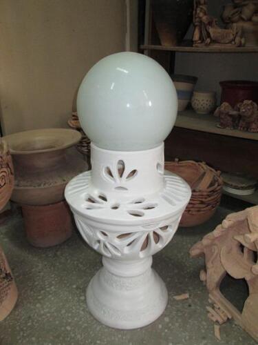 Прорезная ваза-светильник