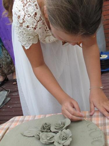 Свадьба керамический букет от всех гостей