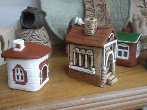 Глиняные домики для свадебного салона