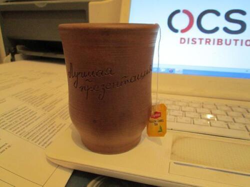 Керамический стакан с фирменным логотипом